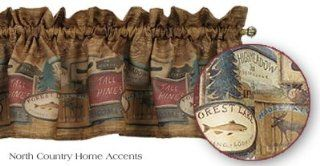 """""""Rather be Fishing"""" Country Lodge Valance Curtain   Window Treatment Valances"""