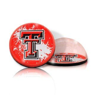 "NCAA Texas Tech Red Raiders logo in 2"" Crystal magnet with Colored Window Gift Box : Sports Related Magnets : Sports & Outdoors"