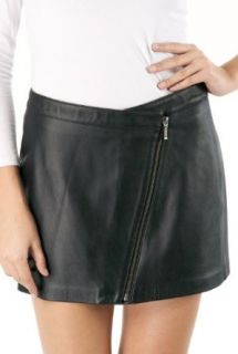 Jessie G. Women's Lambskin Leather Zip Mini Skirt   Petite at  Women�s Clothing store