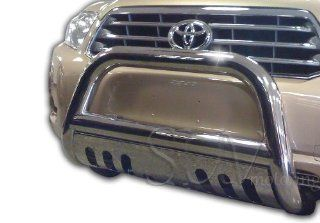 2008 2010 Toyota Highlander Bull Bar w. Skid Plate Grille Guard Protection Stainless Steel: Automotive