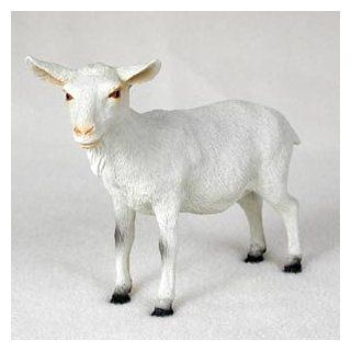 Stone Resin White Goat Animal Figurine   Collectible Figurines