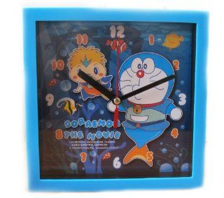 """HelloThailand"" REALLY NICE DORAEMON THE MOVIE   WALL CLOCK IN BLUE COLOR   Licensed DORAEMON THE MOVIE   Giftland Co., Ltd  Childrens Clocks"