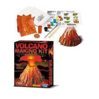 Children's Volcano Science Kit: your very own volcano will really erupt with bubbly, fizzy lava.: Toys & Games