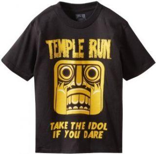 FREEZE Boys 2 7 Temple Run Logo Tee, Black, 1: Clothing