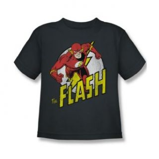 Dc Comics   Run Flash Run Juvy T Shirt In Charcoal: Clothing