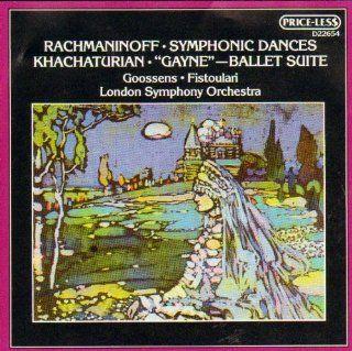 """Rachmaninoff: Symphonic Dances / Khachaturian: """"Gayne""""   Ballet Suite: Music"""
