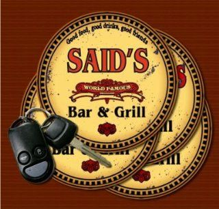 SAID'S Family Name Bar & Grill Coasters: Kitchen & Dining