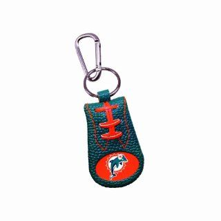 Miami Dolphins Team Color NFL Football Keychain : Sports Related Key Chains : Sports & Outdoors