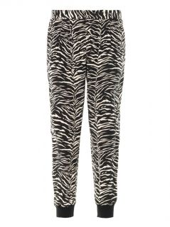 Tiger print silk trousers  Rebecca Taylor