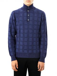 Check cashmere sweater  Brioni