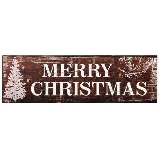 ADECO SP0127 Decorative Wood Sign Plaque   Home Wall Art Decor Saying MERRY CHRISTMAS, Great Christmas Holiday Gift   Wooden Christmas Sayings