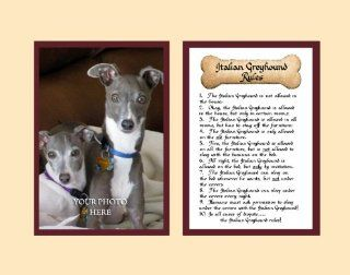 Dog Rules Italian Greyhound Wall Decor Pet Saying Dog Saying   Decorative Plaques