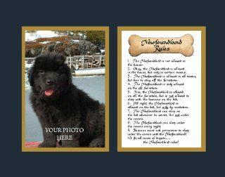 Dog Rules Newfoundland Wall Decor Pet Saying Dog Saying   Decorative Plaques