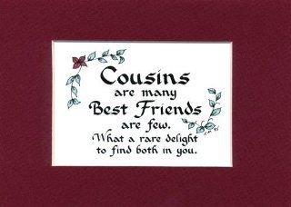 Cousins Family Sibling Saying Home Decor Wall Sign   Cousin Gifts