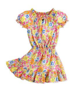 Floral Print Dobby Dress, Girls 2T 3T   Ralph Lauren Childrenswear