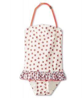 Little Marc Jacobs Ruffle Maillet Girls Swimsuits One Piece (White)