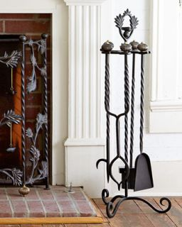 Mrs. Powers Fireplace Tools   MacKenzie Childs   Black