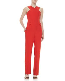 Womens Celia Cross Neck Jumpsuit   Opening Ceremony   Tiger red (SMALL)