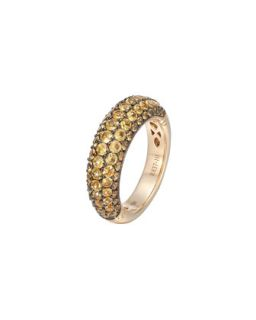Gold Classic Chain Yellow Sapphire Slim Dome Ring   John Hardy   Yellow (7)