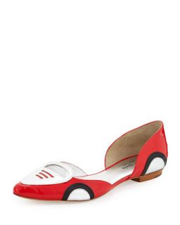 racer patent dOrsay flat, maraschino red   kate spade new york   Maraschino