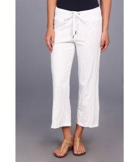 Mod o doc Heavier Slub Jersey Seamed Capri Womens Capri (White)