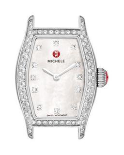 Urban Coquette Mother of Pearl Diamond Bezel Watch Head   MICHELE   Silver