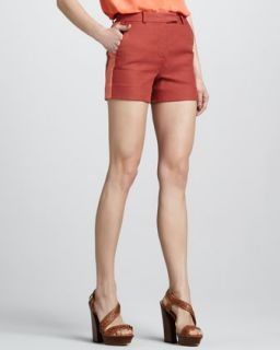 Womens Maya Striped Short   Rachel Zoe   Orange/Tangerine (10)