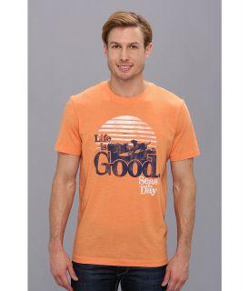 Life is good Cool Tee 2 Mens T Shirt (Orange)
