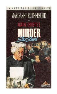 Murder, She Said [VHS]: Margaret Rutherford, Arthur Kennedy, Muriel Pavlow, James Robertson Justice, Thorley Walters, Charles 'Bud' Tingwell, Conrad Phillips, Ronald Howard, Joan Hickson, Stringer Davis, Ronnie Raymond, Gerald Cross, Geoffrey Faith