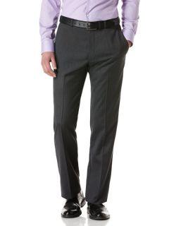 Perry Ellis Mens Tonal Grid Check Flat Front Pant