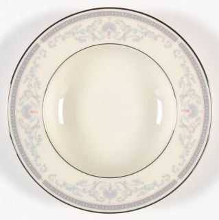 Lenox China Mt. Vernon Rim Soup Bowl, Fine China Dinnerware   Presidential,Gray
