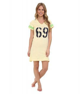 BOTTOMS O.U.T GAL Scoop Neck Sleep Tee Graphic Nightie Womens Pajama (Yellow)