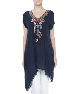 Sweet Dreams Embroidered Georgette Tunic, Womens   Johnny Was Collection
