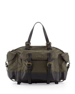 Mens Multi Pocket Coated Duffel Bag, Green   Dsquared2   Green
