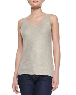 Womens Metallic Soft Touch Tank   Majestic Paris for    Silver (2