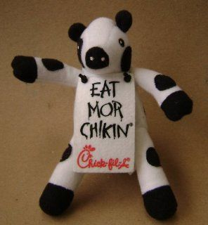 Chick Fil A Cow Mascot Stuffed Animal Plush Toy   6 inches   Cow is wearing a sign that says Eat Mor Chikin: Everything Else