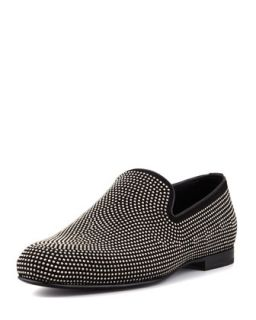 Sloan Mens Mini Studded Loafer, Black   Jimmy Choo   Black (41)