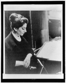 Photo: Says marriage over, Maria Callas, 1923 1977, Greek soprano, opera singer, music stand   Prints