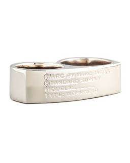 Standard Supply Double Ring, Silvertone   MARC by Marc Jacobs   Silver (S/M)
