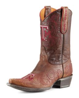 Texas A&M Short Gameday Boots, Brass   Gameday Boot Company   Brass (37.0B/7.0B)