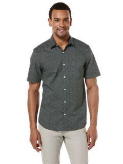 Perry Ellis Mens Big and Tall Mini Square Print Shirt