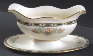 Lenox China Mystic Gravy Boat with Attached Underplate, Fine China Dinnerware