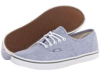 Vans Authentic Lo Pro Blue/True White) Skate Shoes (Blue)
