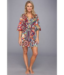 Josie Hollywood Boho Jersey Wrap Robe Womens Pajama (Navy)