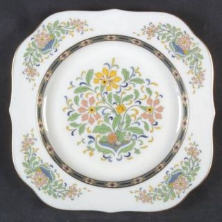 Lenox China Mystic Square Salad Plate, Fine China Dinnerware   Multicolor Band &