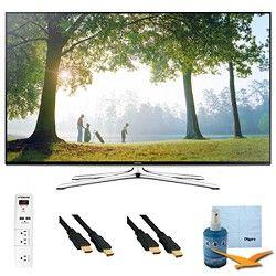 Samsung 48 Inch Full HD 1080p Smart HDTV 120Hz Wi Fi Plus Hook Up Bundle   UN48H