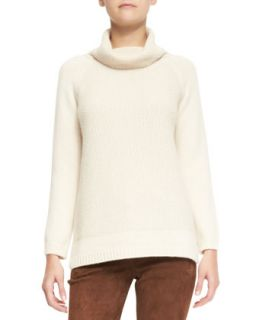 Womens Tunica Paris Baby Cashmere Cowl Neck Sweater   Loro Piana   Tapioca