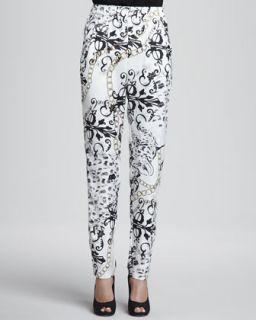 Womens Yolanda Skinny Trousers   Erin Fetherston   Leopard chain (6)