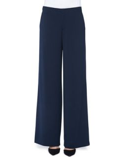 Womens Wide Leg Crepe Pants, Coastal   Vince   Coastal (6)