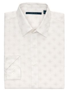 Perry Ellis Mens Long Sleeve Diamond Print Shirt